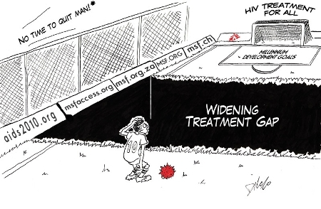 MSFs latest report: No time to quit: HIV/AIDS treatment gap widening in Africa