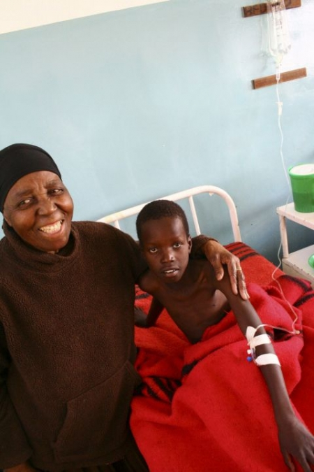 "J Stavropoulou, MSF. |  Grandmother ""Gogo"" and 10-year old Denis are happy to see us!"