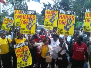 Nairobi Hands Off protest