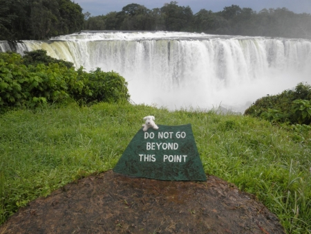Milou at the Lumangwe Falls