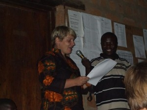 Photo: Grant A. |  Anne Marie Loof, Head of Mission, giving the handover speech