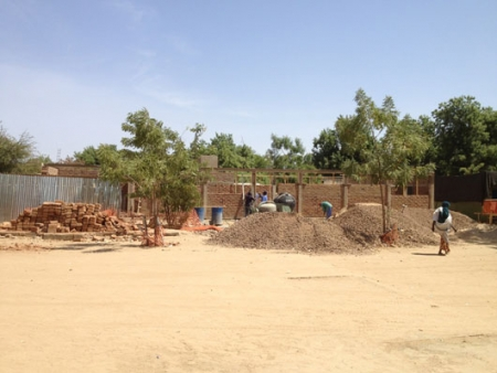 The initial construction of our new ICU © Raghu Venugopal