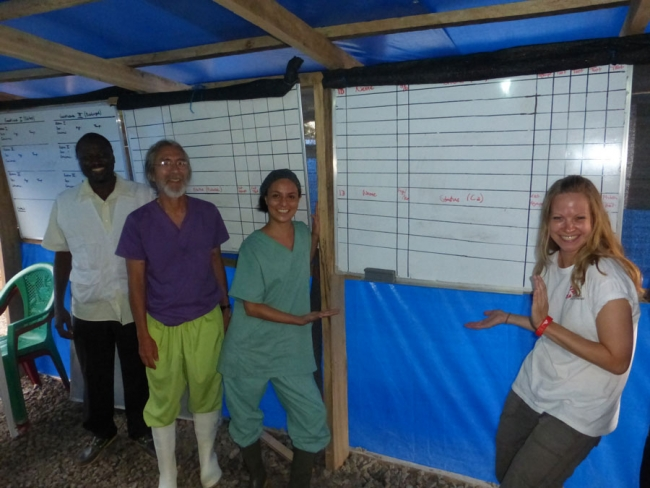 Empty boards where just eight weeks ago over 100 names were listed. ©MSF