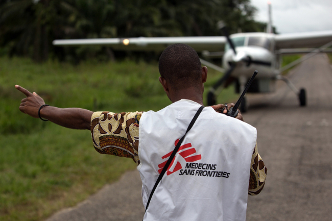 An MSF supply plane lands near Walikale hospital. Photo: Gwenn Dubourthoumieu/MSF