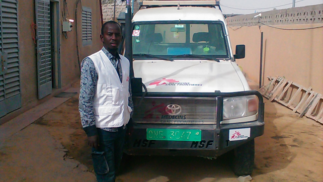 Alfa on assignment in Diffa, Niger.
