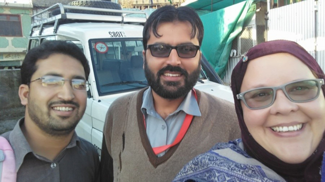 Annke, Parvez and Nazir take a selfie