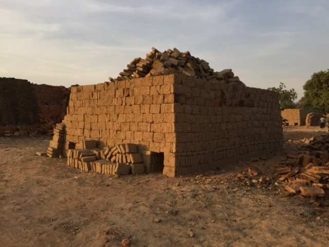 The kiln for the river mud bricks
