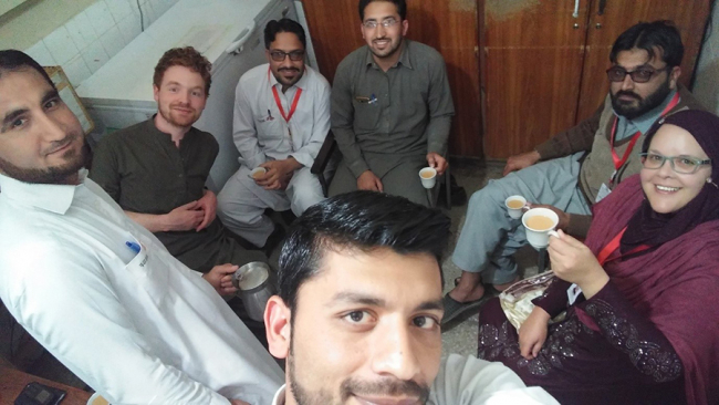 The MSF Pakistan team share a cup of Chai