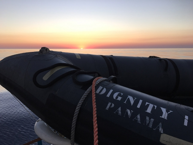 The rescue dinghy