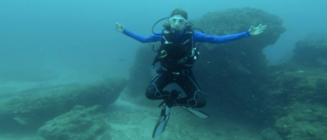 Me, diving in Mozambique! © Ingrid Oxley Oxland