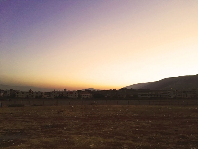 Photo of the landscape outside Bekaa