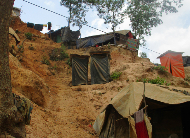 Flooding and landslides could occur in the coming monsoon season. Photo: Heidi Anguria/MSF