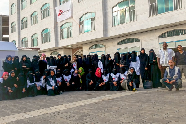 The MSF team in Yemen