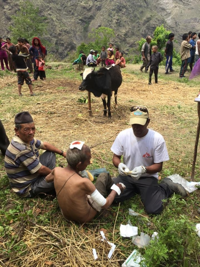 MSF nurse Nepal earthquake