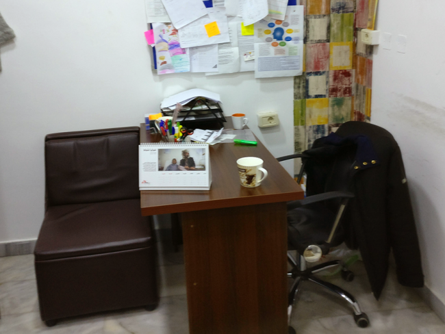 Image shows one of the mental health counselling rooms in the Irbid clinic