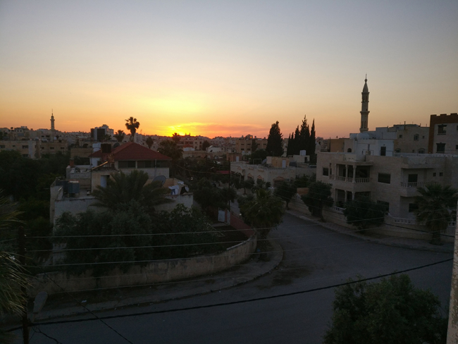 View from roof in Jordan. Photo: Mike Tomson