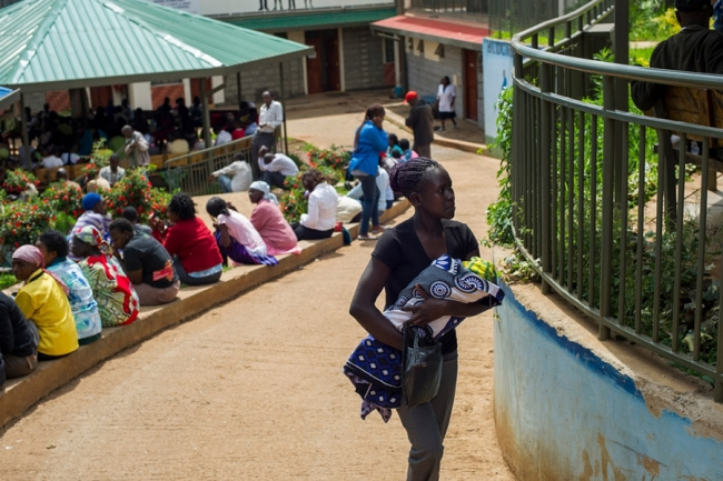 One of the two MSF health centres in Kibera