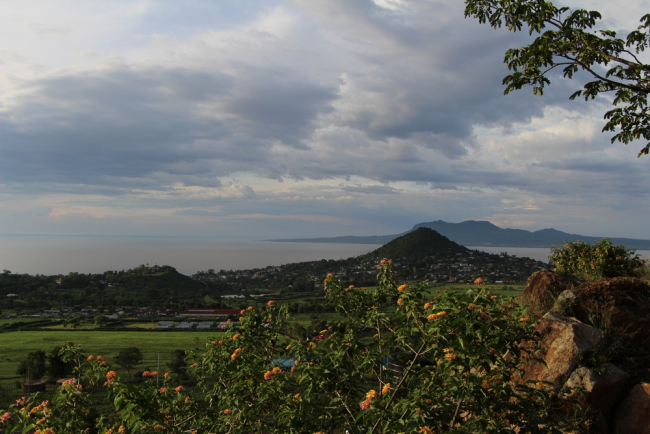 Image shows Homa Bay City, which is on the banks of Lake Victoria