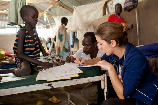 Josie at at work in South Sudan