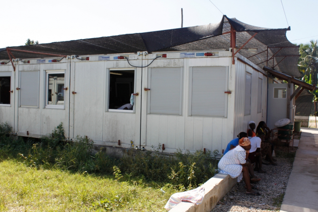 The MSF hospital in Haiti made from containers. It was a temporary measure, set up rapidly in response to the 2010 earthquake.