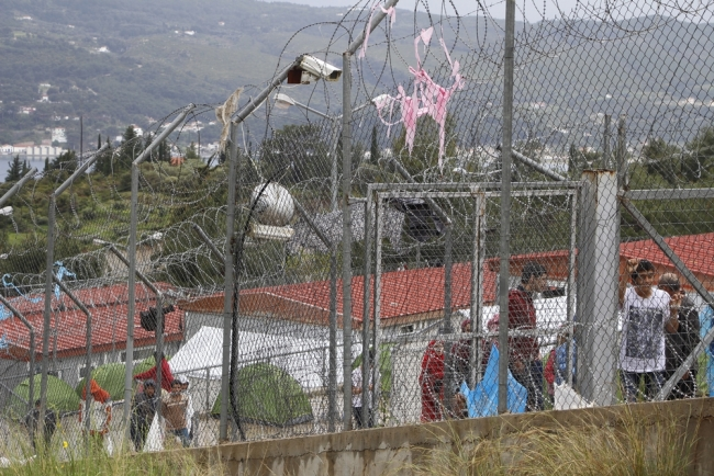 Samos hotspot which became a detention center since 20 of March 2016 where more than 700 asylum seekers and migrant are detained there.