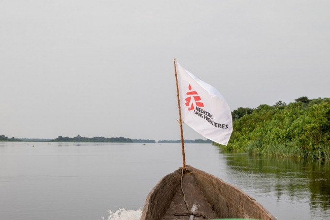 An MSF boat on the River Congo