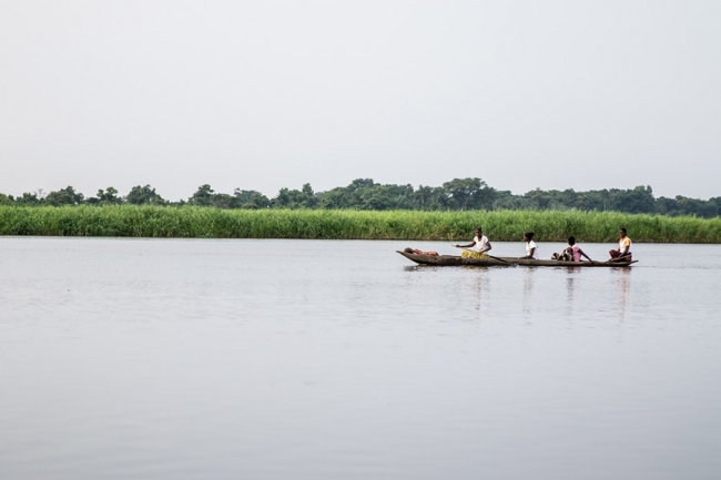 A canoe on the River Congo