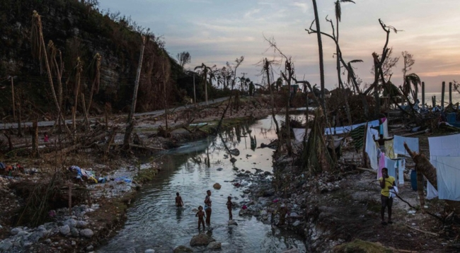 Photo of Hurricane Matthew's destruction in Haiti