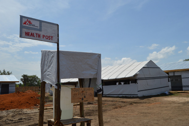 The MSF healthpost in the camp