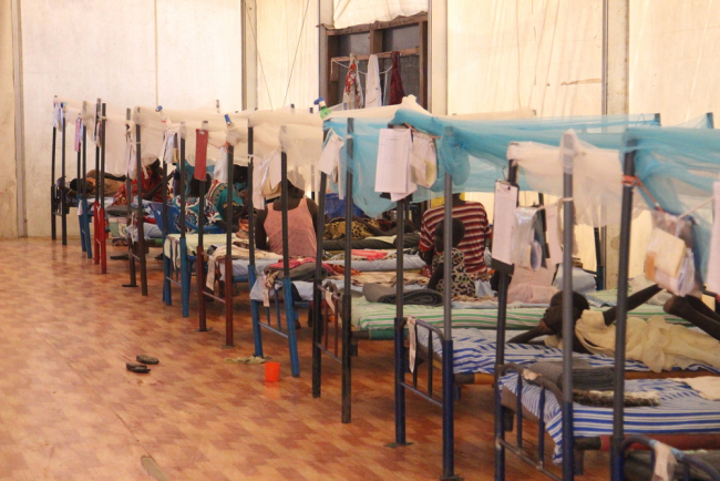 A simple hospital ward, run by MSF inside the Malakal camp. Photo Philippe Carr/MSF
