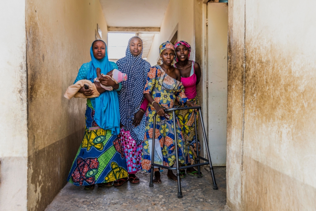 Patients at the fistula clinic in Jahun