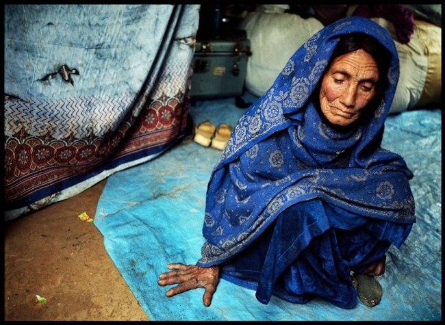Photo of Bigrana, an old woman from Bajaur, in Pakistan.