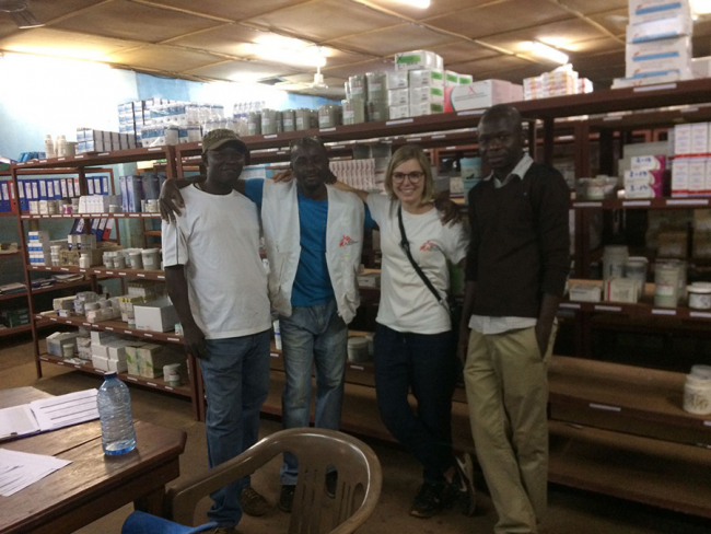 Irene with the MSF pharmacy team in CAR