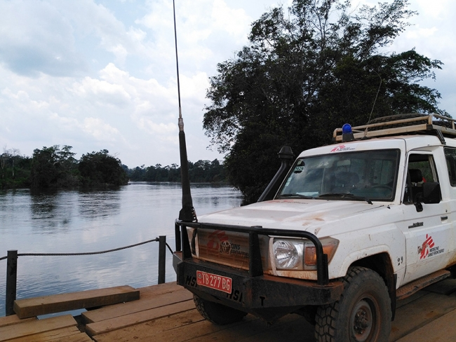 An MSF land cruiser on a more substantial bridge