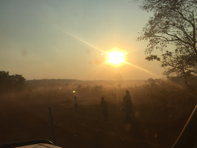 Dust rises in Nduta camp, Tanzania