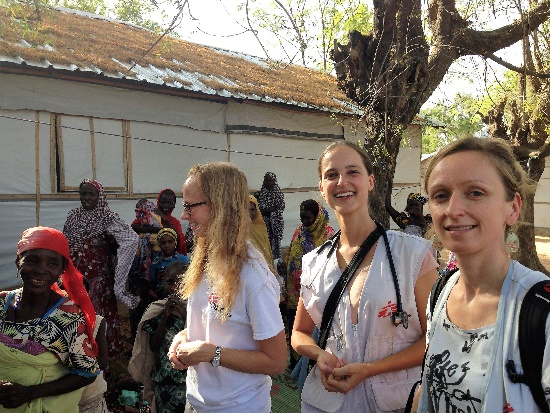 Julia and her colleagues at the MSF hospital in Niger.