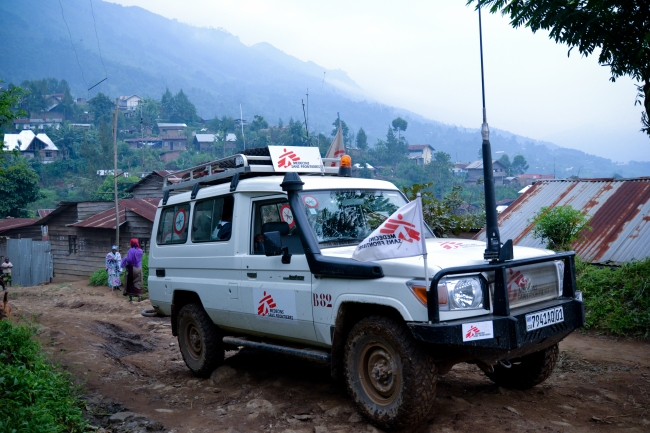 The MSF ambulance in Masisi
