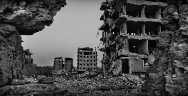 The ruins of Raqqa in northern Syria. Photo: Eddy Van Wessel/MSF