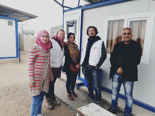 The MSF / Doctors Without Borders mental health team at Ain Issa camp in Syria