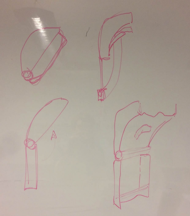 Whiteboard designs of The Clam