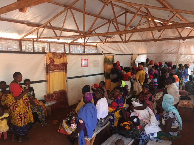 The waiting room at the MSF hospital in Nduta Refugee Camp, Tanzania