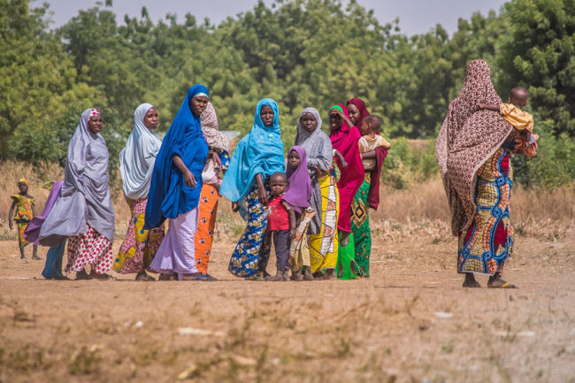 A group of women and children in Jigawa state, northern Nigeria. Photo: Maro Verli/MSF