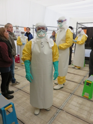 Me in my personal protective equipment while training in Brussels © Kimberly Larkins
