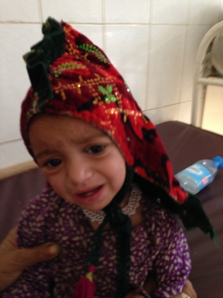 Various head gear on the children in winter MSF Afghanistan