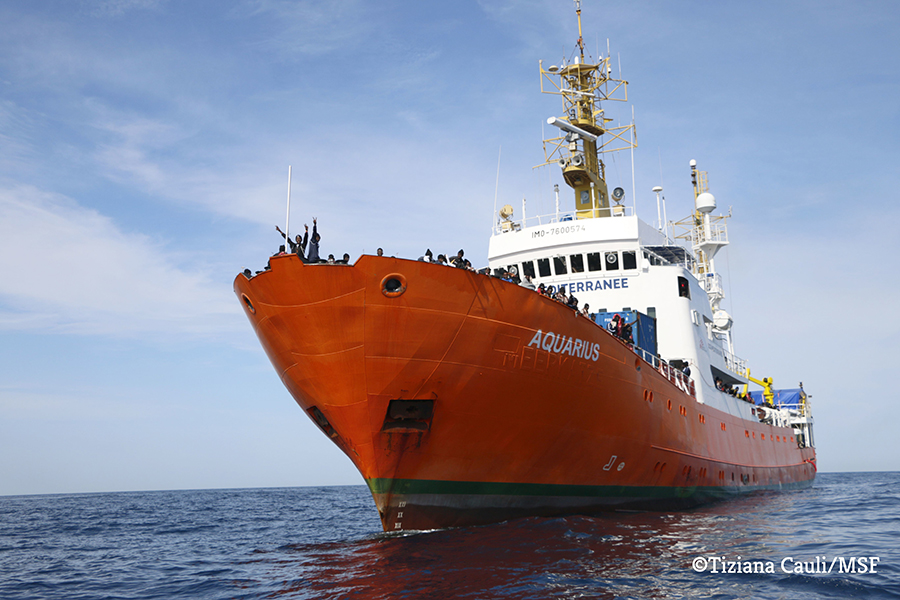 The MV Aquarius search and rescue vessel