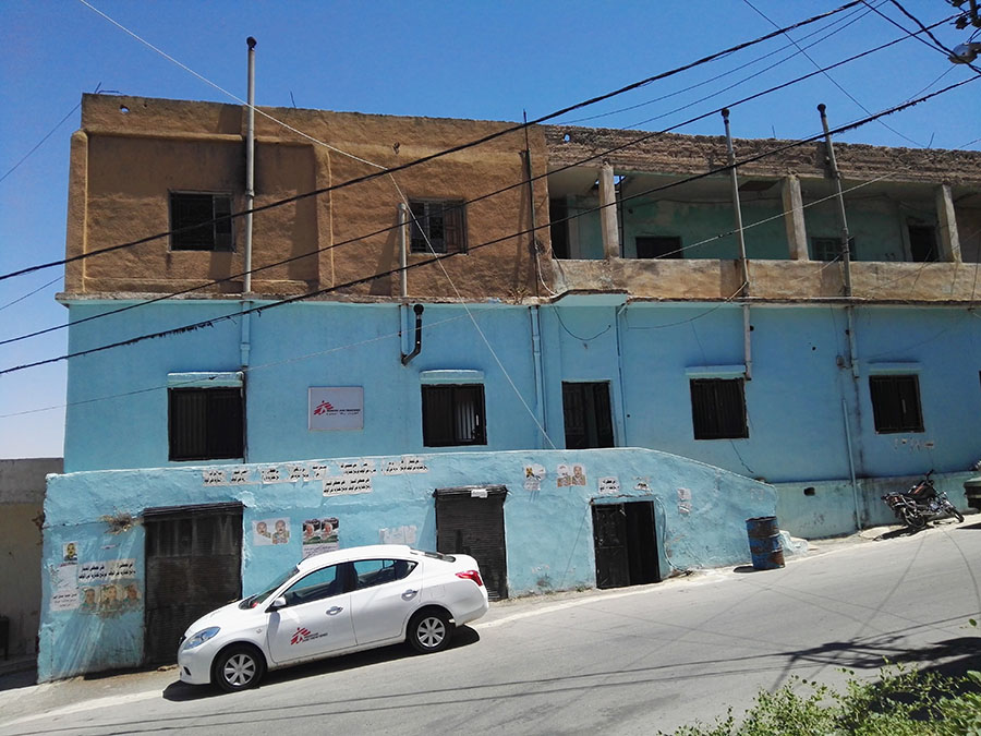 This building is part of the MSF project in Bekaa