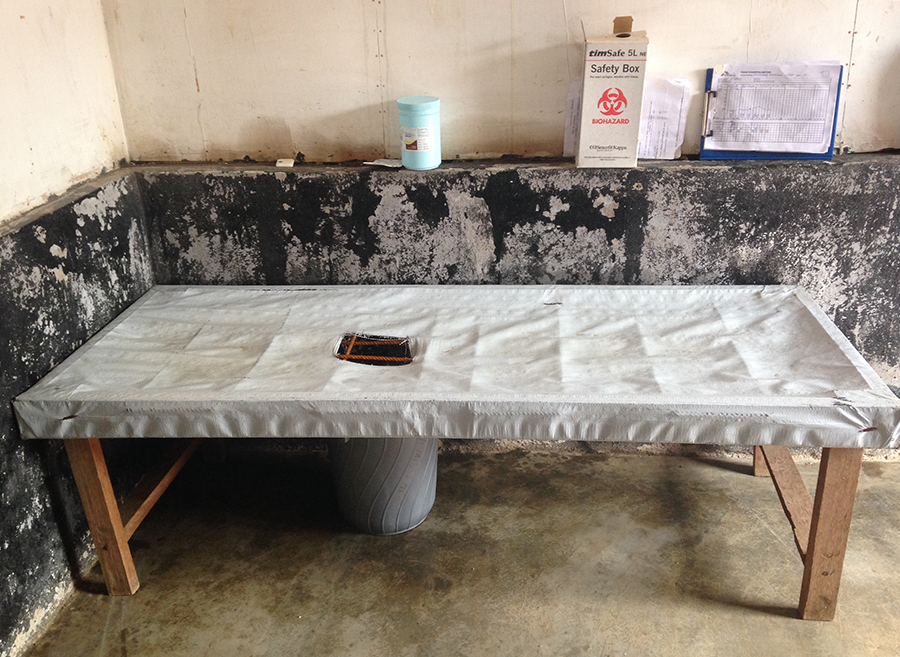 Cholera treatment bed in South Kivu, DRC