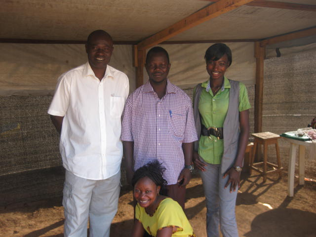 Prudence with her fellow sanitation educators at the hospital.