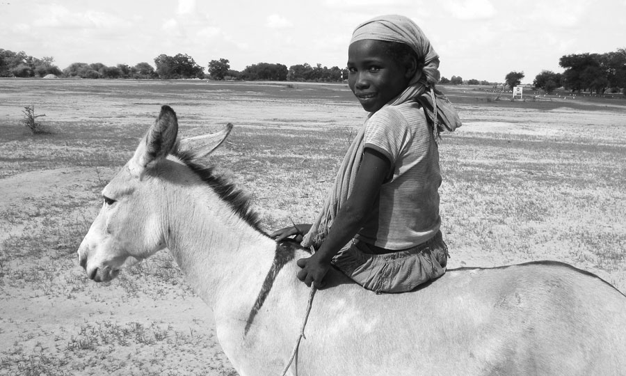 Tajara and donkey © MSF