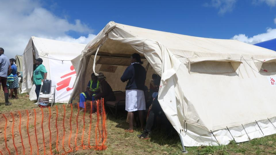 MSF's 'Skyline' stabilisation centre in Chimanimani, Zimbabwe